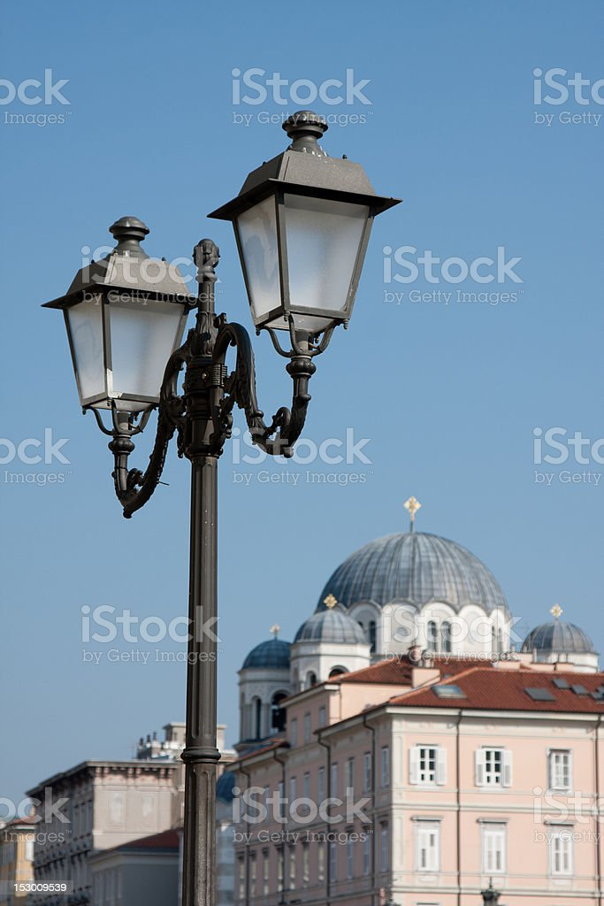 Serbian Orthodox temple in Trieste royalty-free stock photo