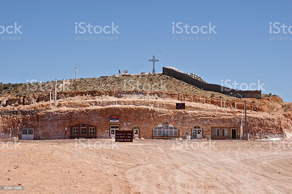 Serbian Orthodox underground church, Coober Pedy, Australia stock photo