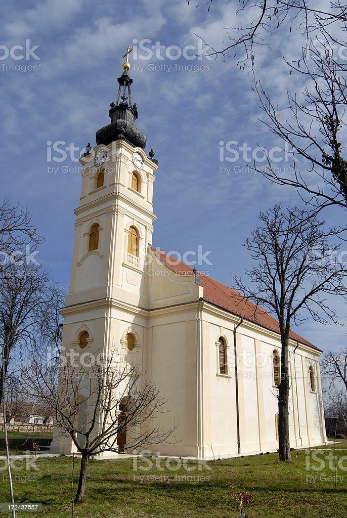 Serbian ortodox church in Ciacova royalty-free stock photo