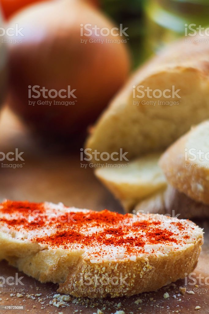 Serbian snack stock photo