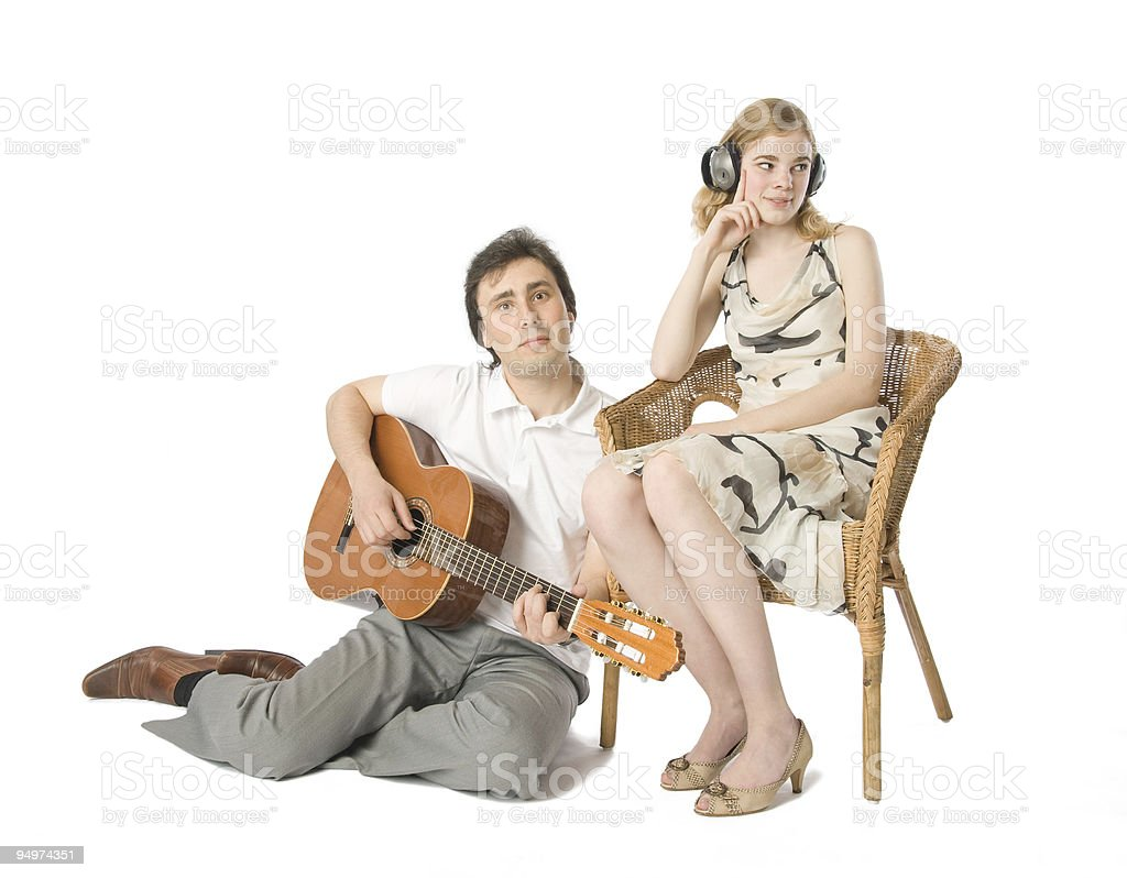Serenade for the deaf royalty-free stock photo