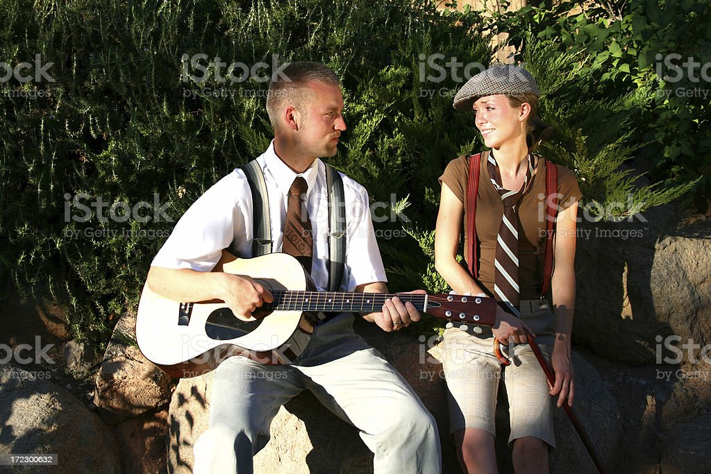 Serenade in the Park (Utah RedRockalypse) royalty-free stock photo
