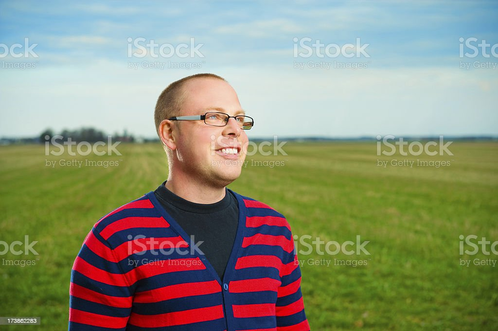 Serene and happy young man royalty-free stock photo