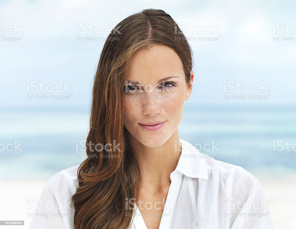 Serene and self-assured royalty-free stock photo