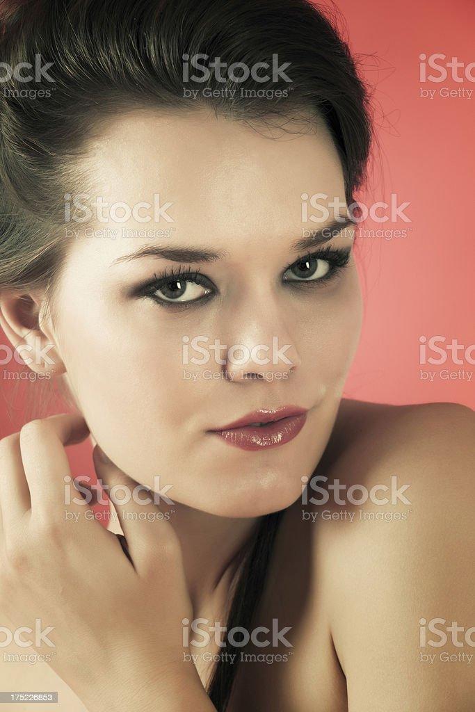 Serene beautiful woman royalty-free stock photo