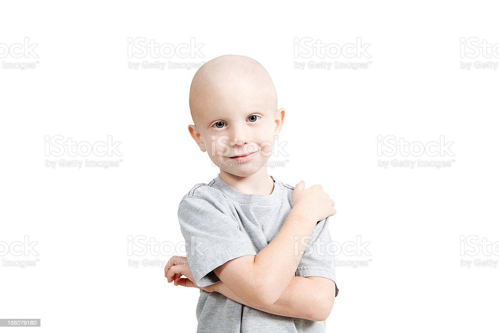 Serene Chemo Child Horizontal royalty-free stock photo