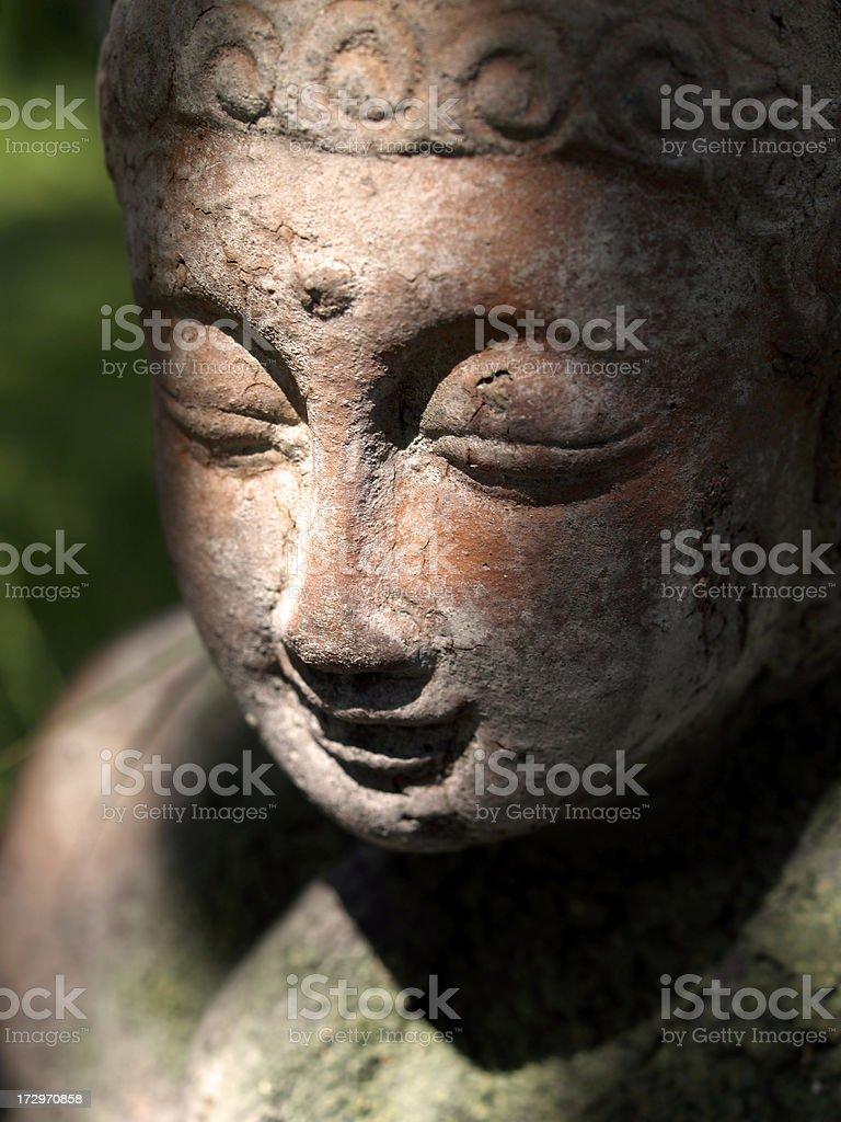 Serene garden Buddha royalty-free stock photo