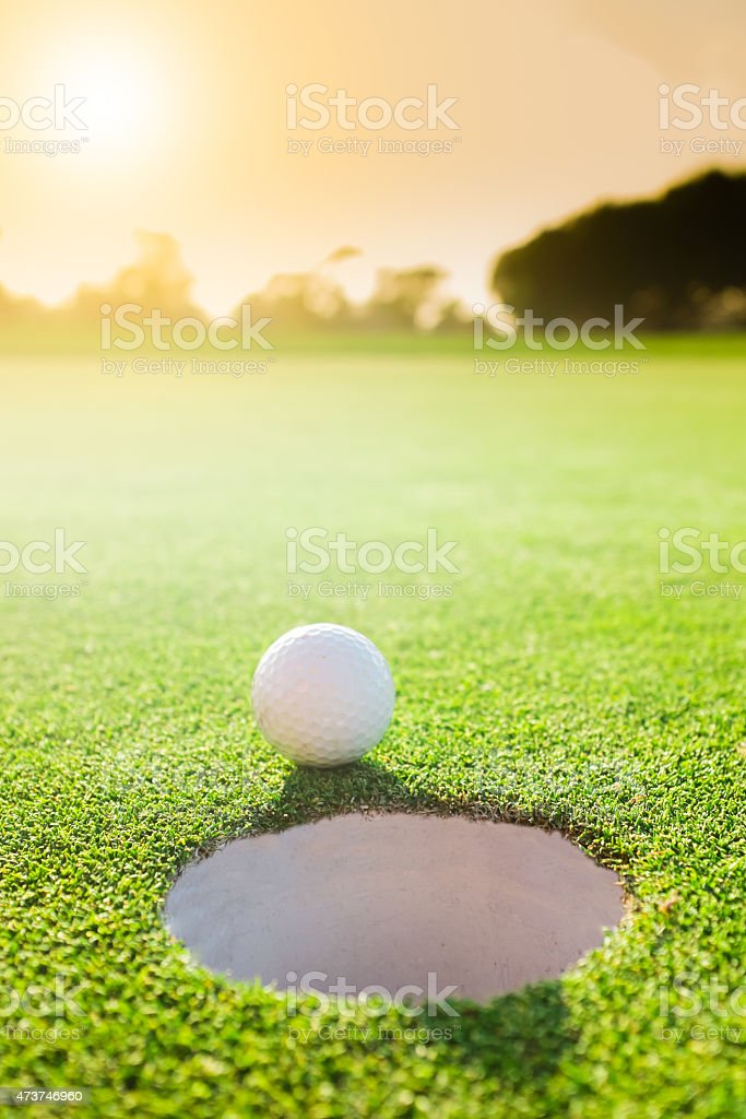 Serene Golf Hole stock photo