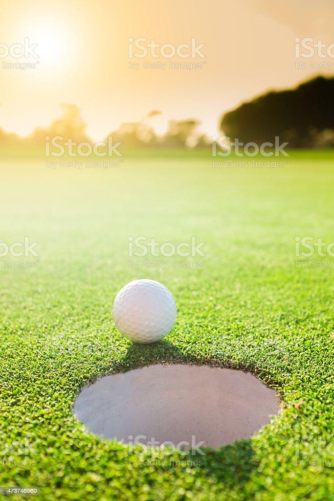 Serene Golf Hole stock photo