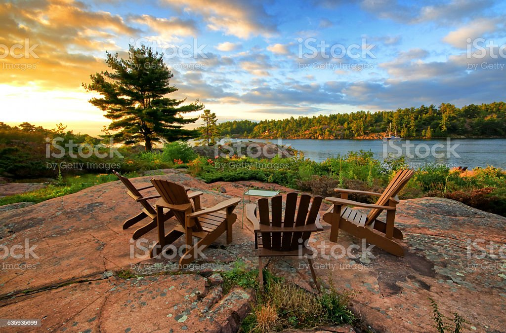 Serene image from cottage living stock photo
