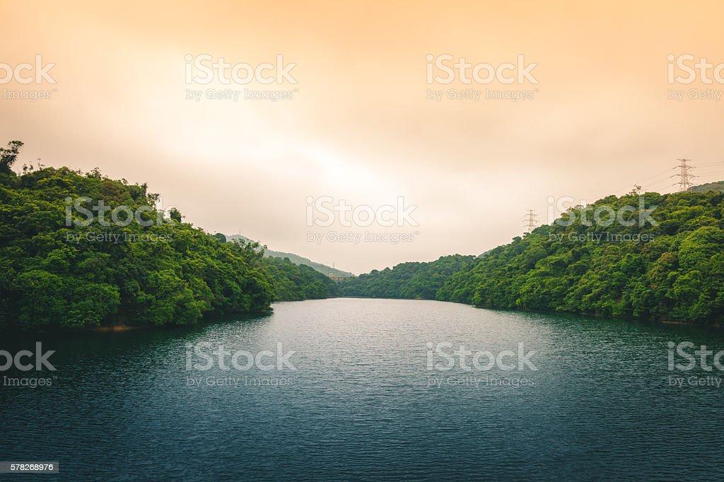 Serene Lake in Hong Kong royalty-free stock photo