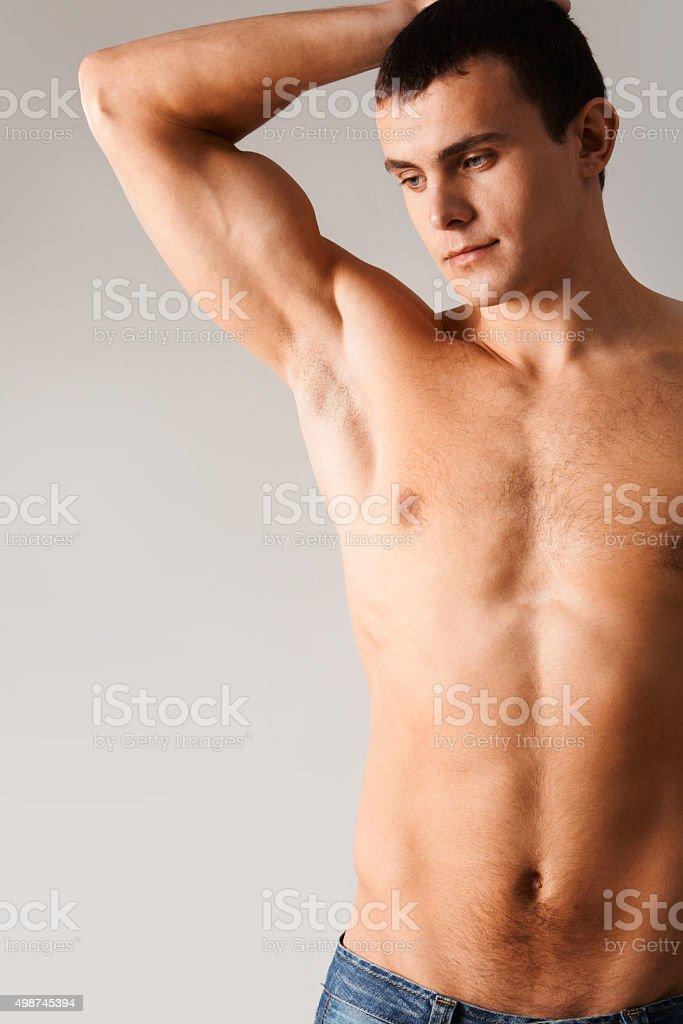 Serene man stock photo