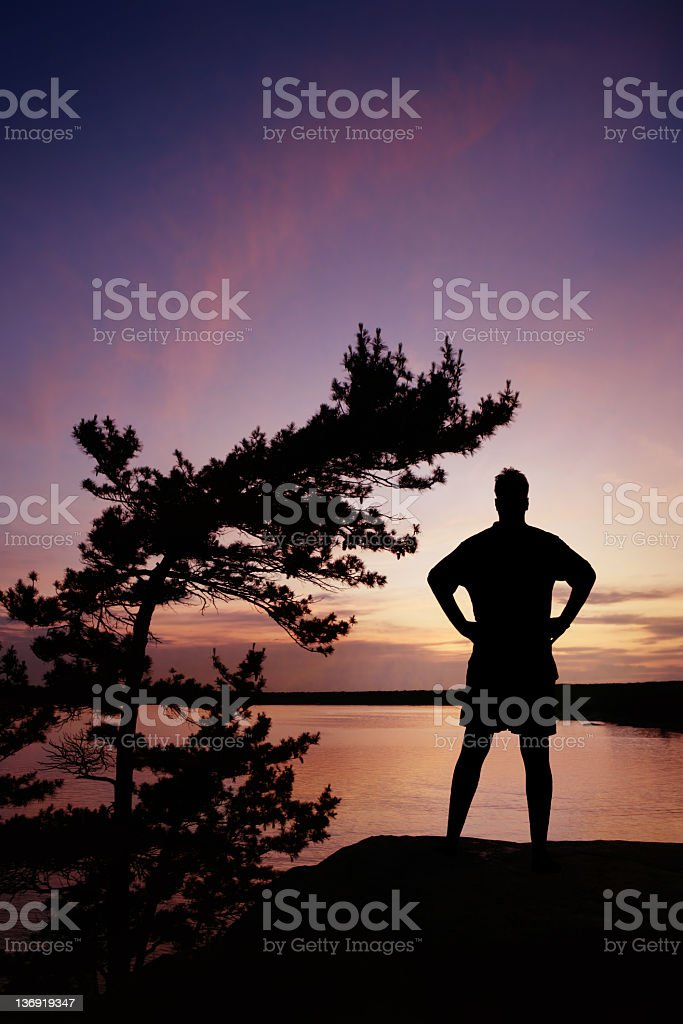 XL serene man silhouette royalty-free stock photo