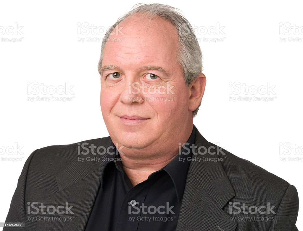 Serene Mature Man Close Up Portrait royalty-free stock photo
