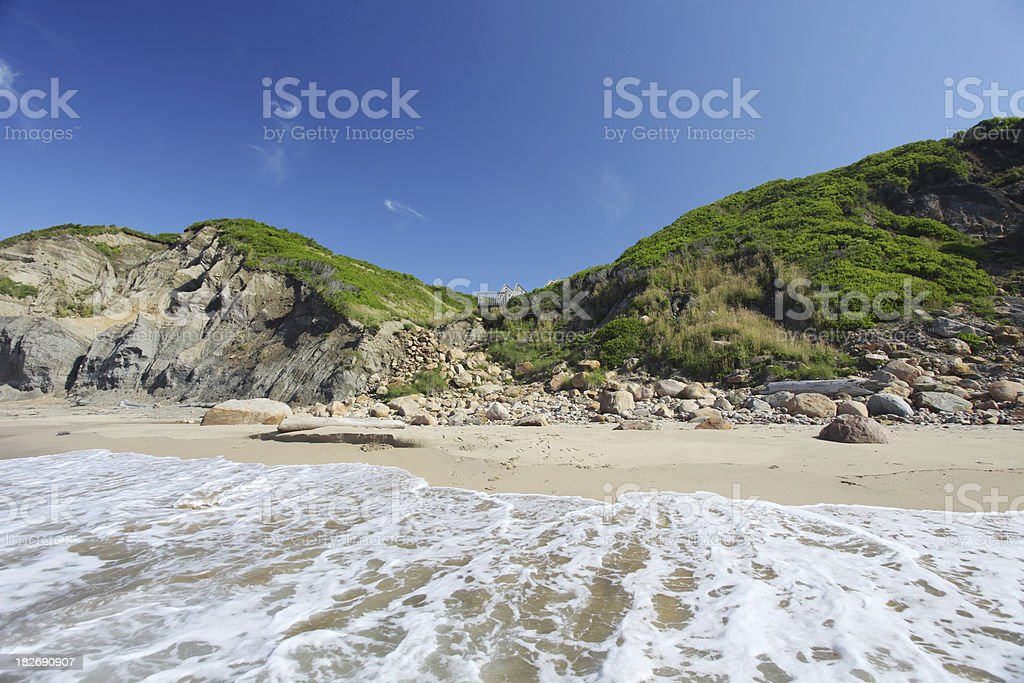 Serene new england beach royalty-free stock photo