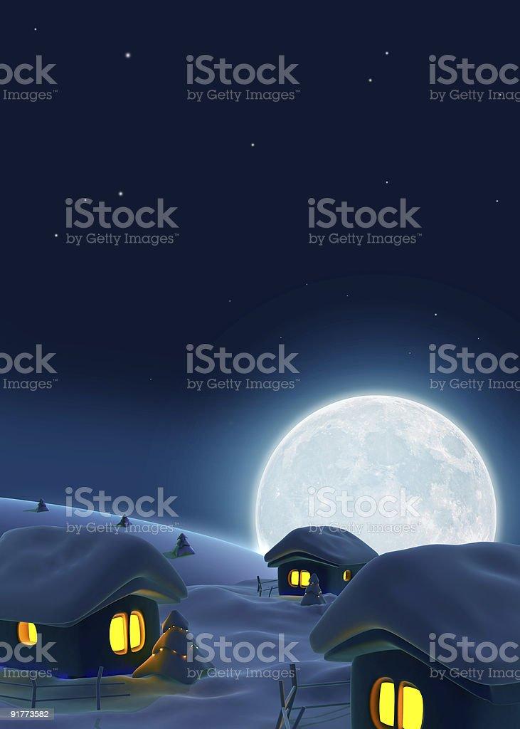 Serene night royalty-free stock photo