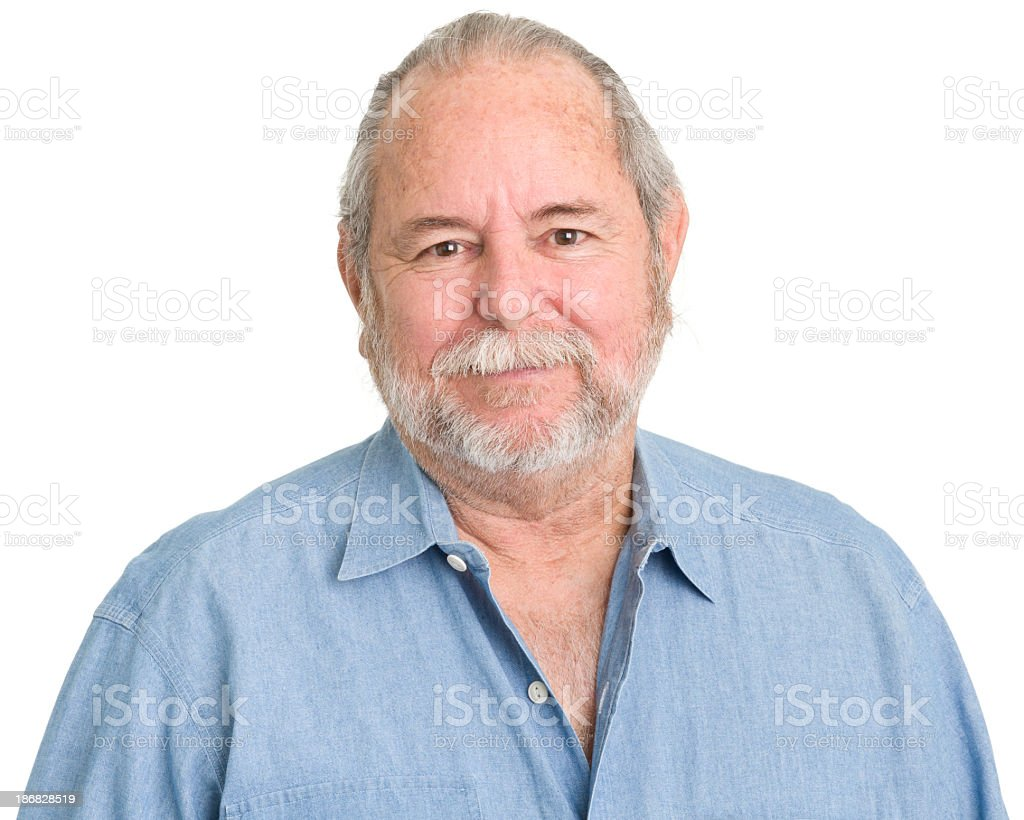 Serene Senior Man Portrait stock photo