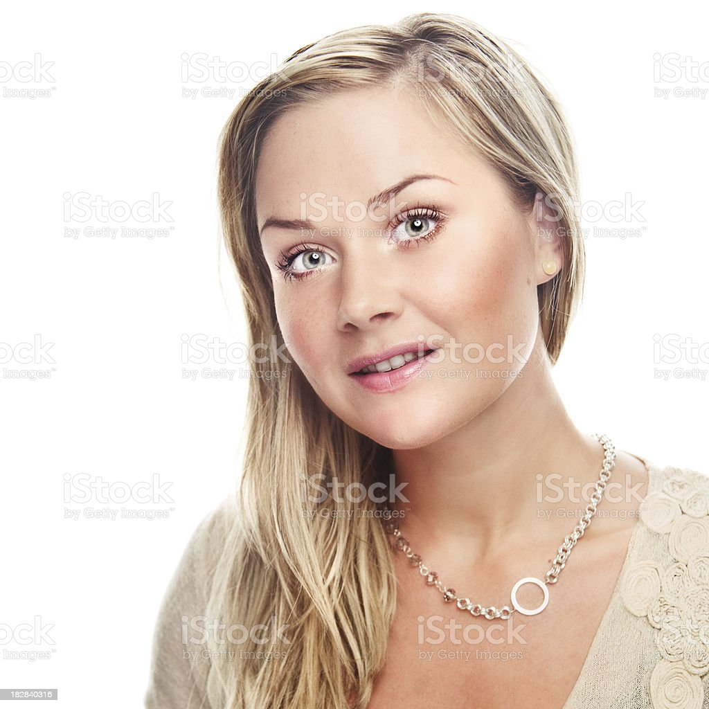 Serene simple portrait of woman royalty-free stock photo