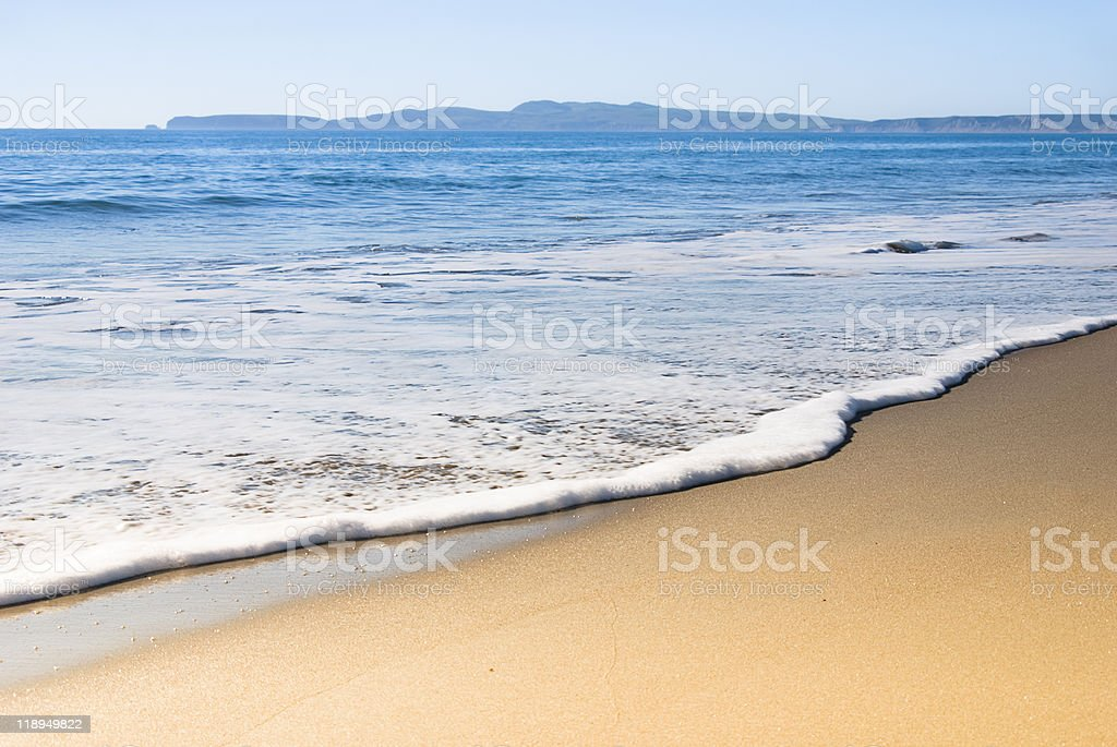 Serene stretch of empty sand and sea royalty-free stock photo