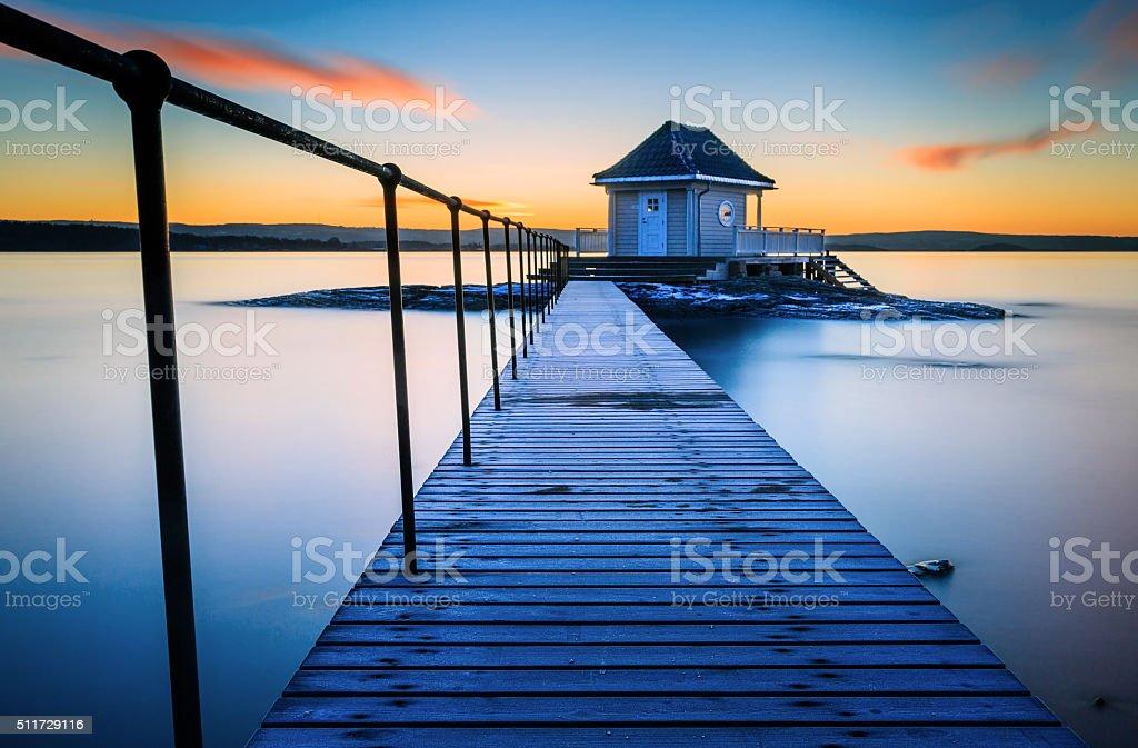 Serene Sunrise stock photo
