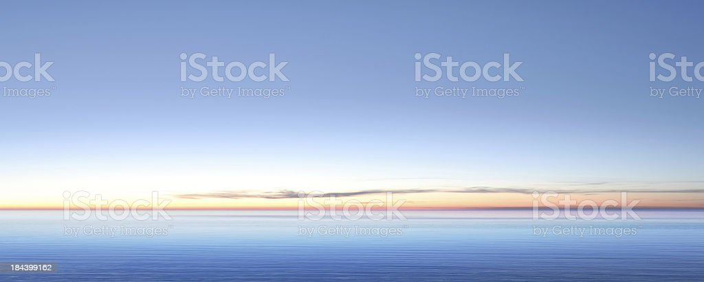 XXL serene twilight lake stock photo
