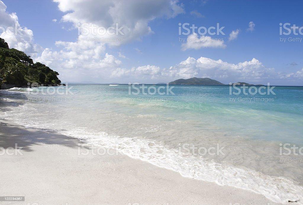 Serene White Sand Beach royalty-free stock photo