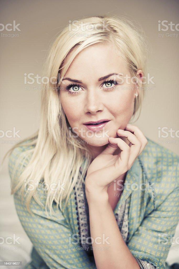 serene woman royalty-free stock photo