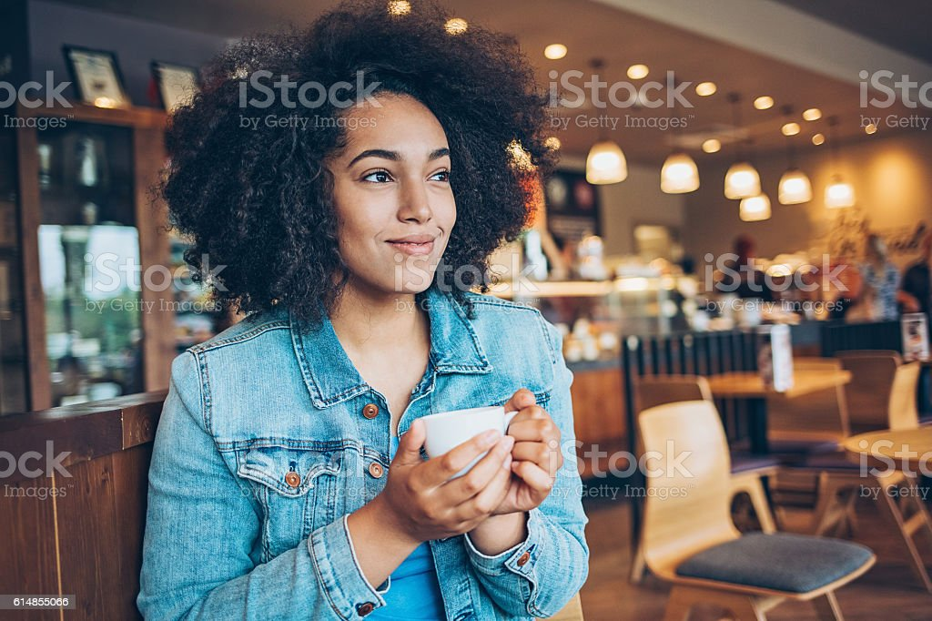 Serene woman stock photo