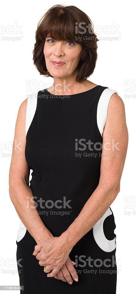 Serene Woman Three Quarter Portrait royalty-free stock photo