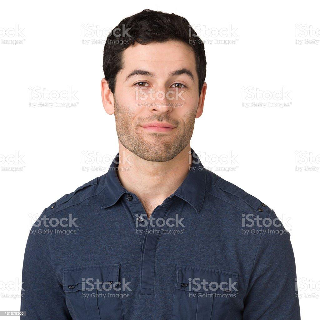 Serene Young Man Looking At Camera royalty-free stock photo