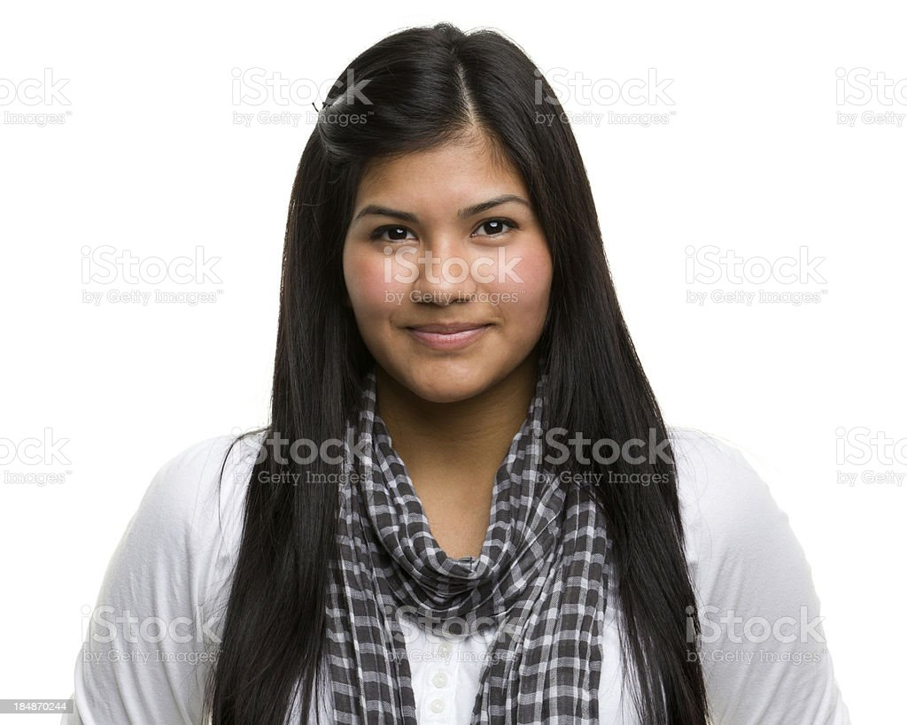 Serene Young Woman Portrait stock photo
