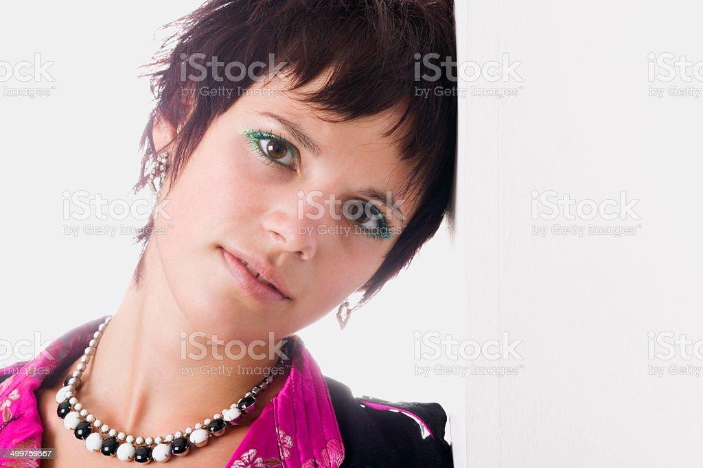 Sereine jeune femme adulte - photo libre de droits