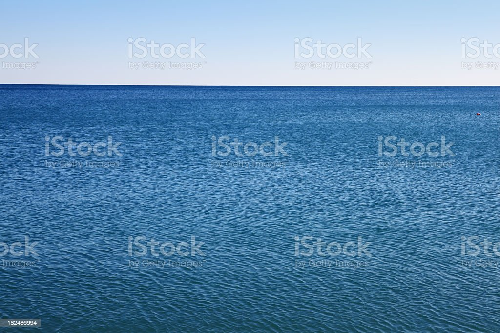 Serene Zen Seascape Antalya Konyaalti Beach royalty-free stock photo