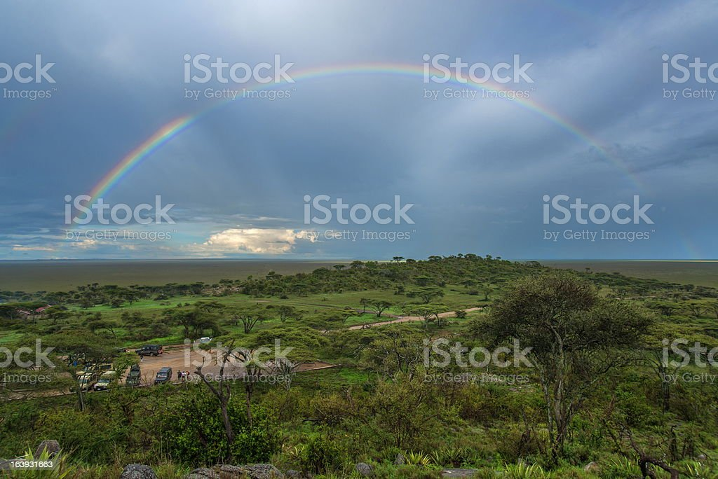 Serengeti rainbow royalty-free stock photo