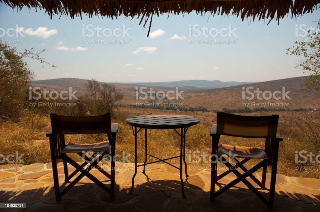 Serengeti safari lodge Tanzania Africa stock photo
