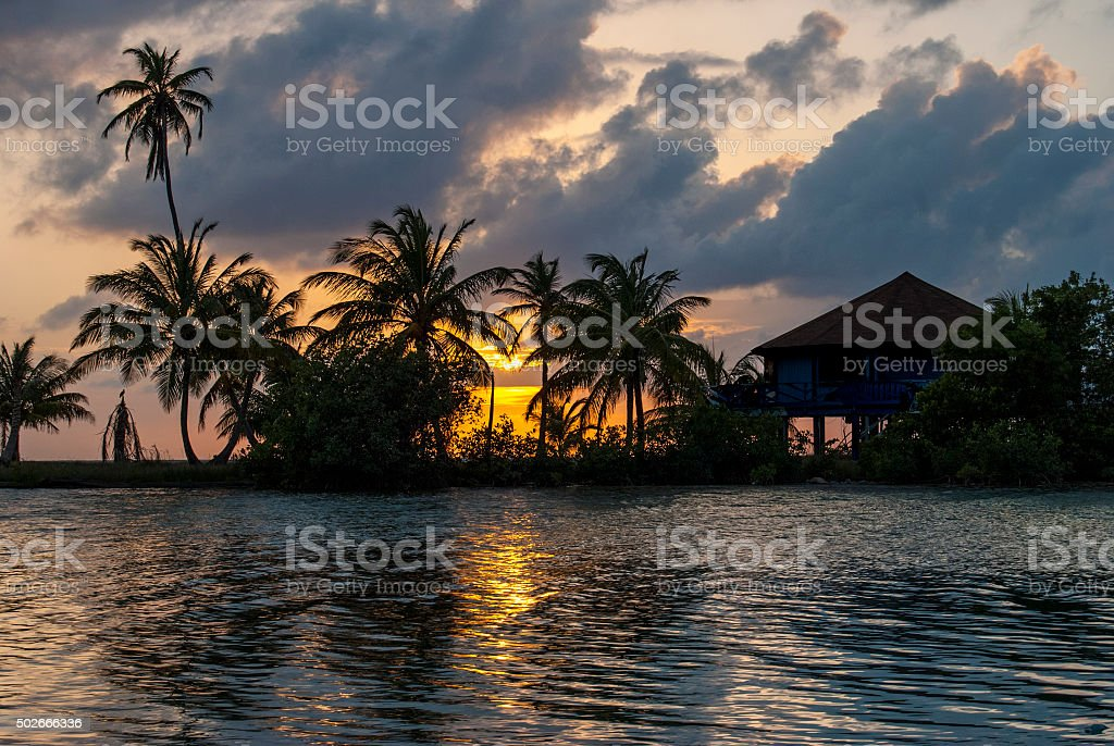 Serenity in the Caribbean stock photo