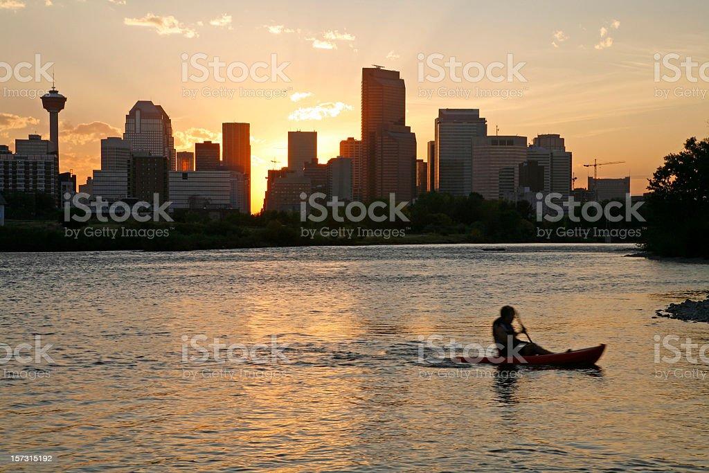 Serenity In The City Of Calgary royalty-free stock photo