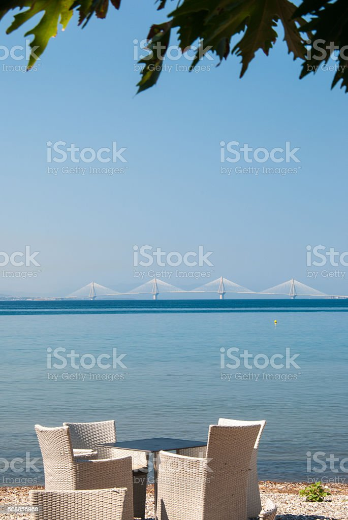 Serenity on a Greek beach stock photo