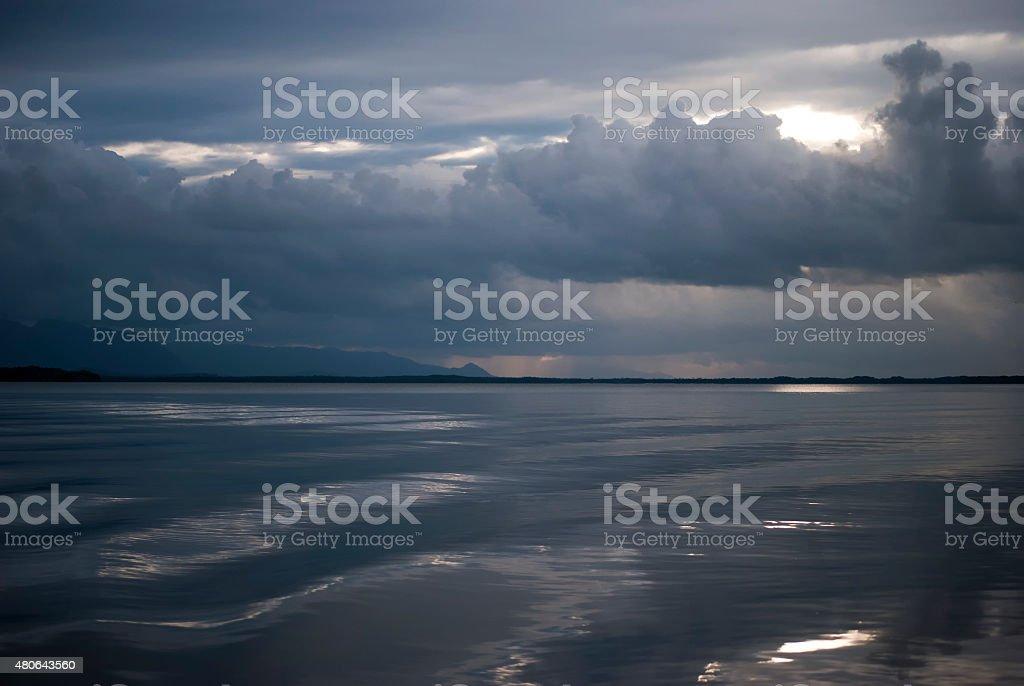 Serenity on the sea stock photo
