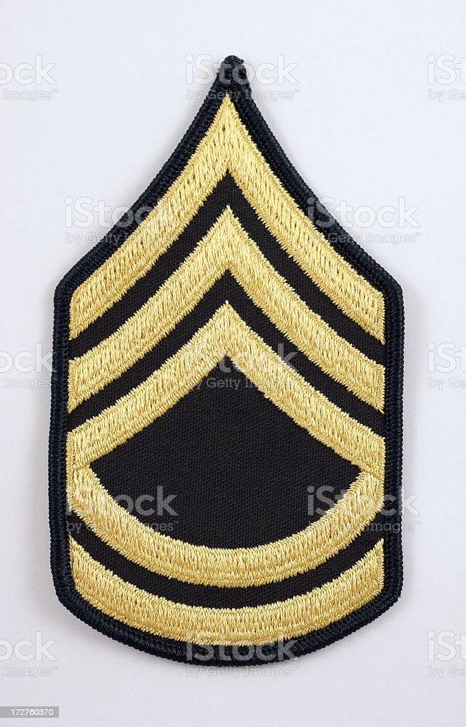 U.S. Sergeant First Class Rank Insignia stock photo