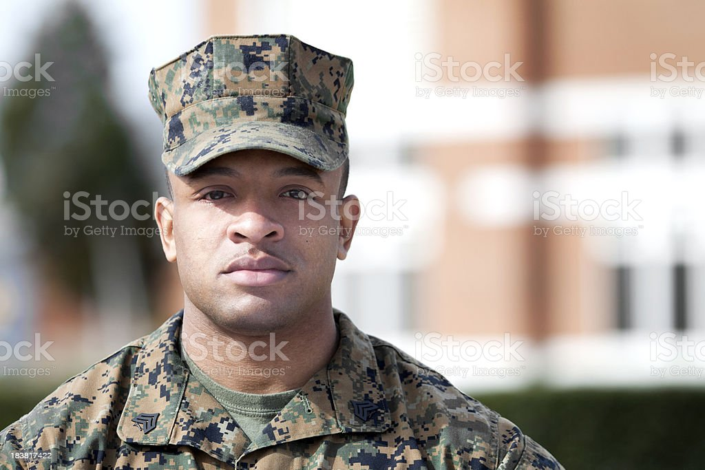 Sergeant of Marines stock photo