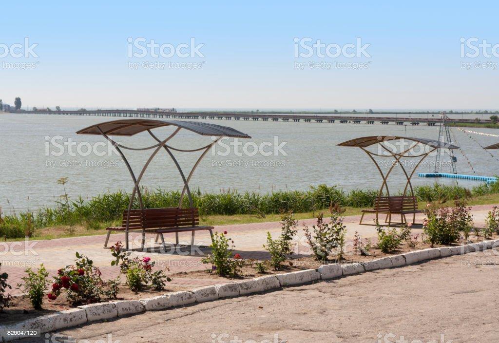 Sergeevka Dniester liman of Black sea in Odessa region photo stock photo