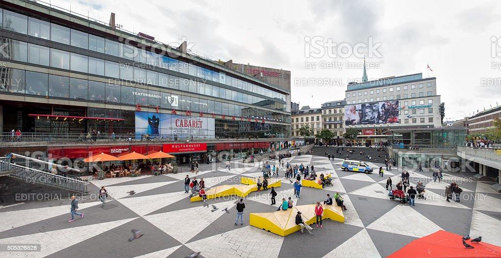 Sergel Square (Sergels Torg) Stockholm stock photo