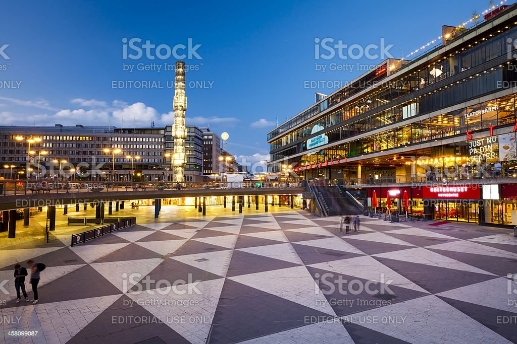 Sergels torg, Stockholm Sweden stock photo
