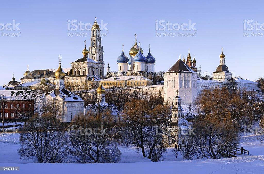 Sergiev Posad monastery at winter royalty-free stock photo