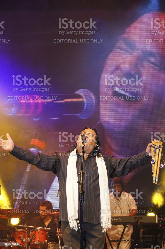 Sergio Galleguillo . Cantautor en Jes?s Mar?a 2013 stock photo