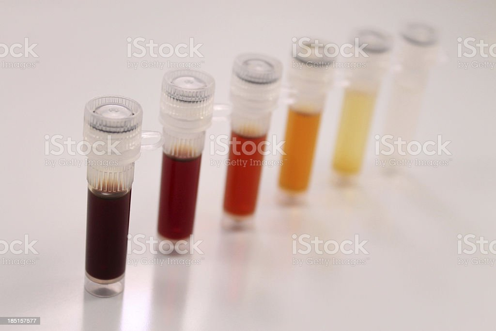 Serial dilution royalty-free stock photo