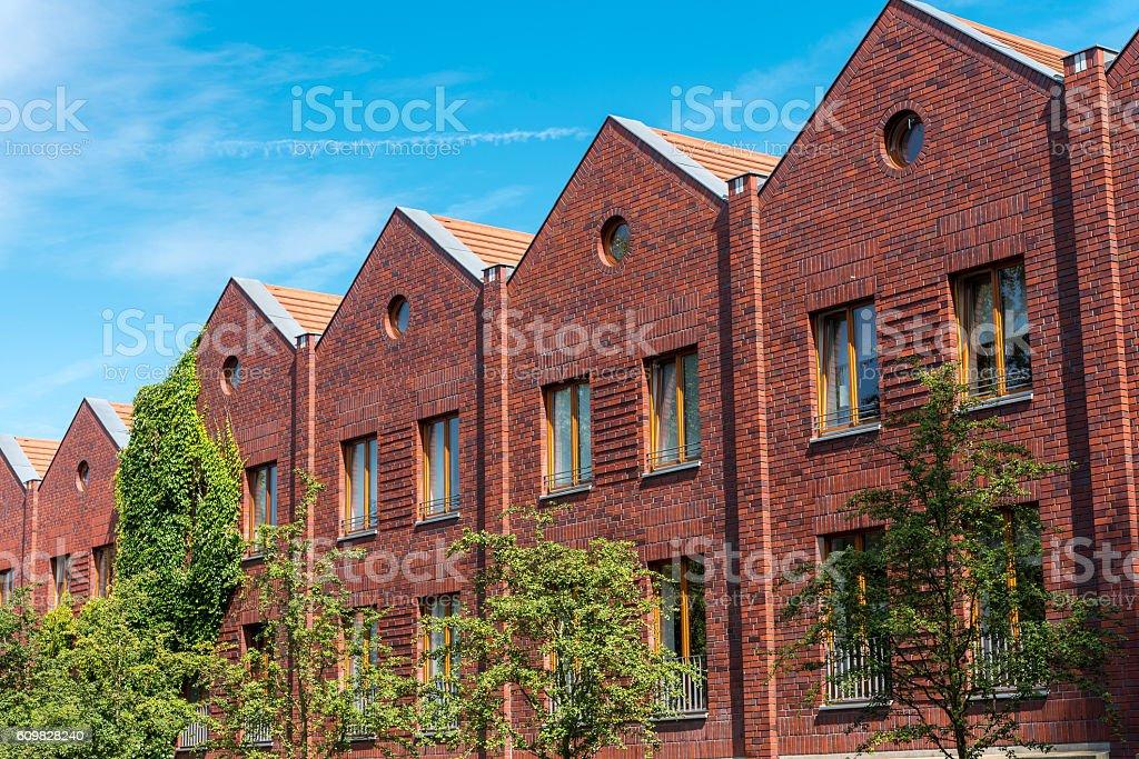 Serial houses seen in Berlin stock photo