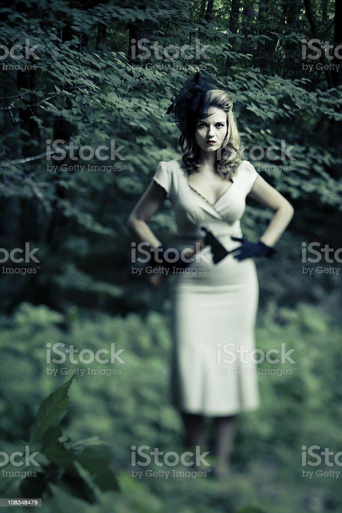 serial killer woman stock photo