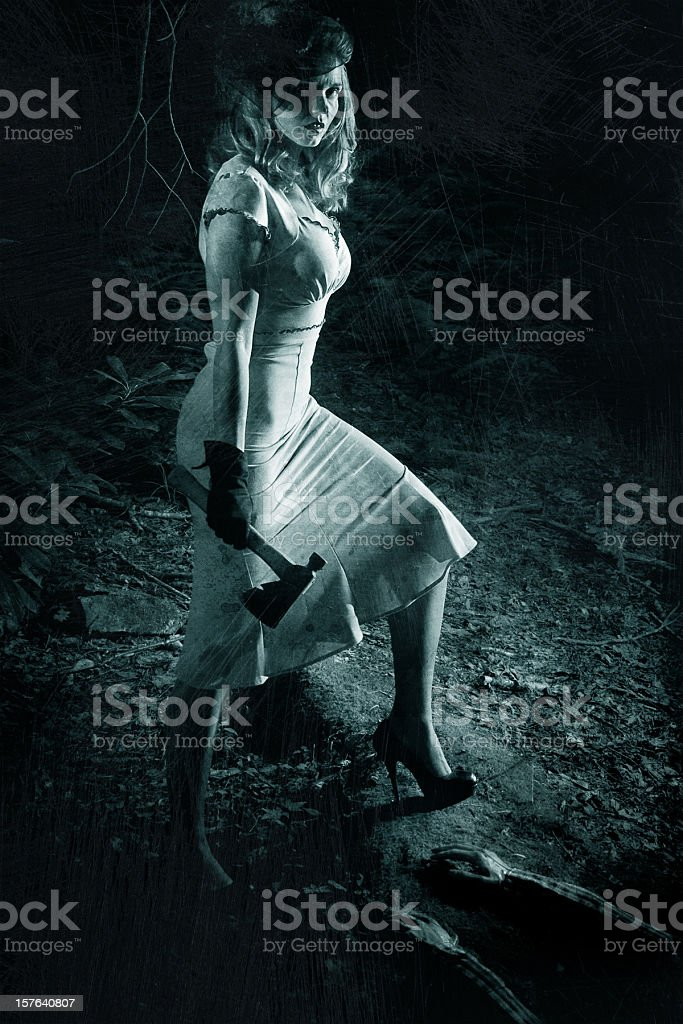 serial killer woman stock photo